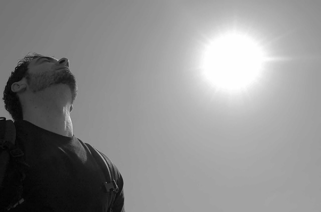sky, sun, black and white, breathing, excursion