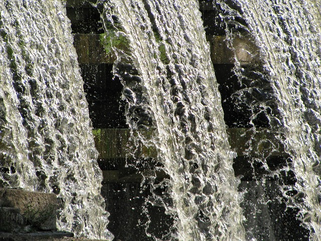 sluice, waterfall, natural water, nature, elements