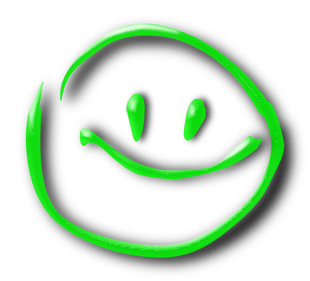 smiley, face, green, smile, happy