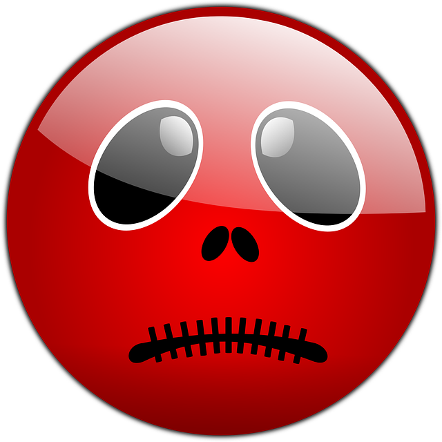 smiley, red, halloween, avatar, spooky, unhappy