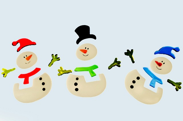 snowman, snowmen, decorations, color, christmas, xmas