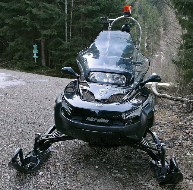 snowmobile, vehicle, winter, snow vehicle