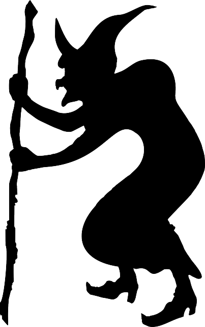 sorcerer, witch, wizard, halloween, black, silhouette