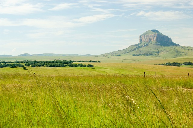 south africa, landscape, mountain, sky, clouds, grass