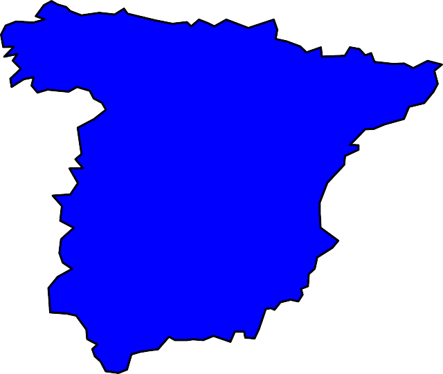 spain, geography, outline, europe, map, country, iberia