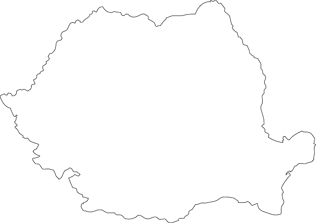 spain, romania, black, simple, geography, outline, map