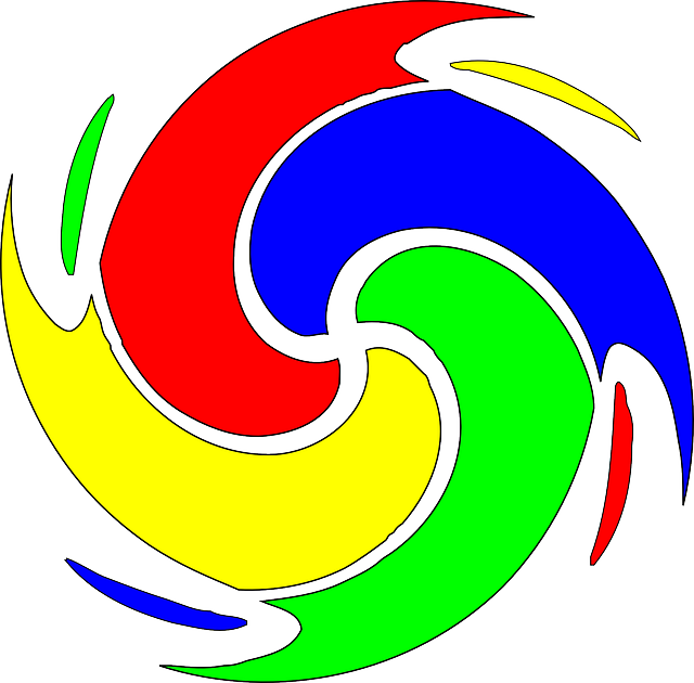 spiral, swirl, vortex, colors