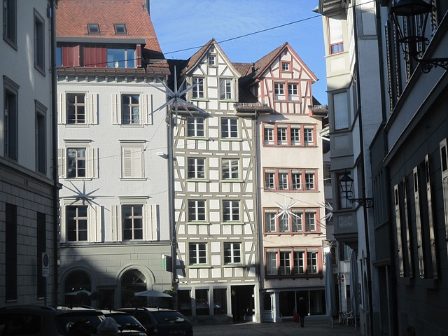 st gallen, switzerland, homes, old building