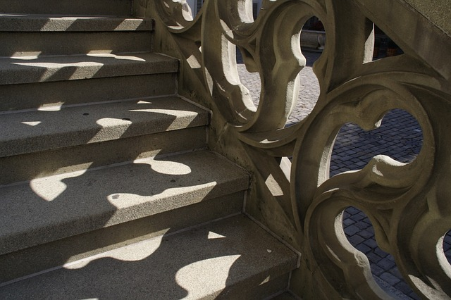 stairs, staircase, gradually, gothic, stone stairway