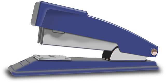 stapler, office, blue, tool