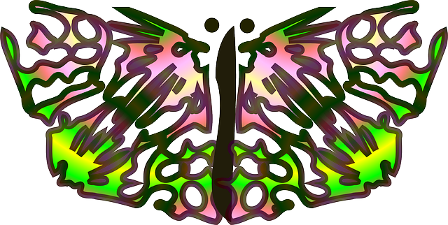 star, pattern, butterfly, wings, insect, animal