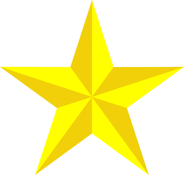 star, yellow, 3d