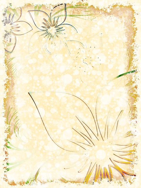 stationery, floral, paper, flower