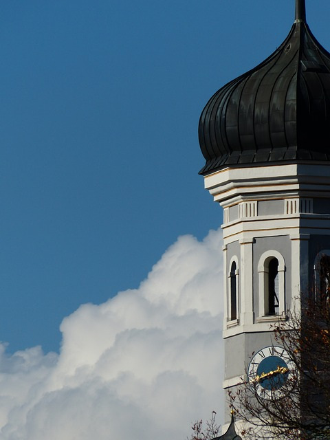 steeple, ulm, holy trinity church, spire, onion dome