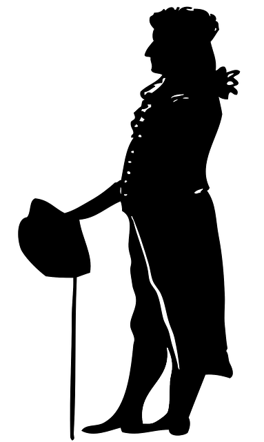 stick, man, silhouette, shadow, leaning, standing