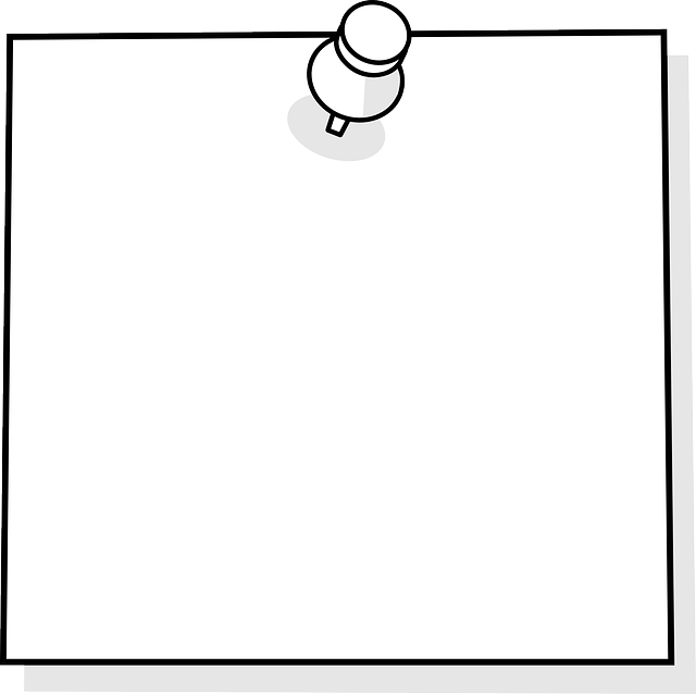 sticky note, post-it, blank, memo, paper, note
