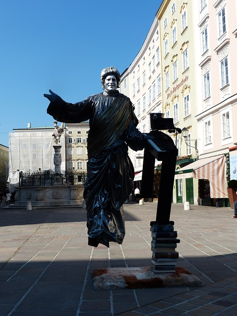 street artists, pantomime, statue, colored, person, man