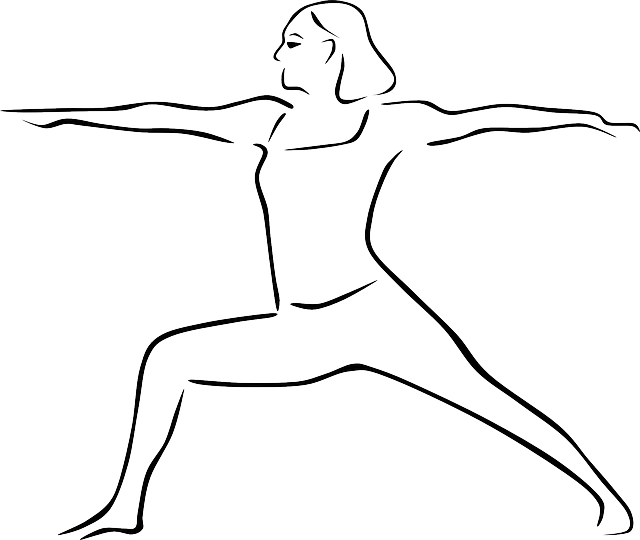 stylized, outline, people, kids, yoga, person, cartoon