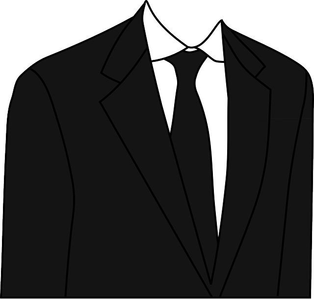 suit, black, clothing, necktie