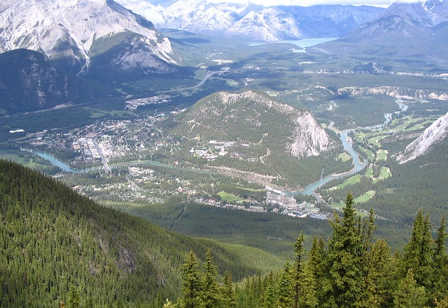 sulphur mountain, mountains, nature, outside, outdoor