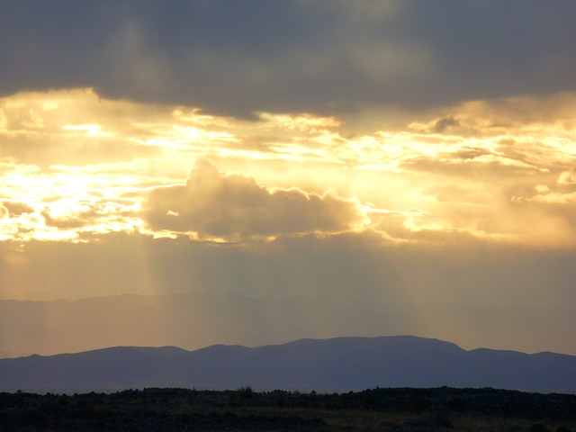 sunset, abendstimmung, lake titicaca, peru, sky, clouds