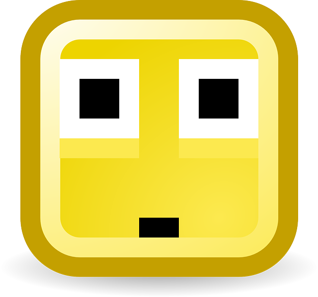 surprised, confused, smiley, computer, pixelated