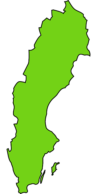 sweden, country, map