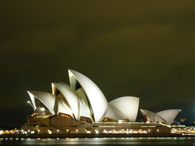 sydne, opera, opera house, night, concert hall