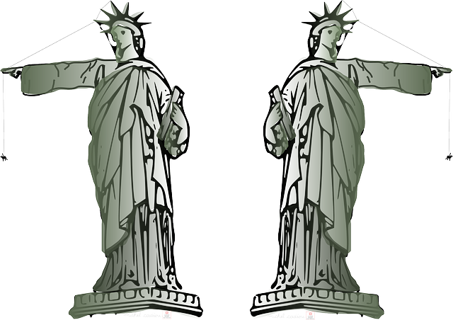 symbol, liberty, lady, pointing, america, point