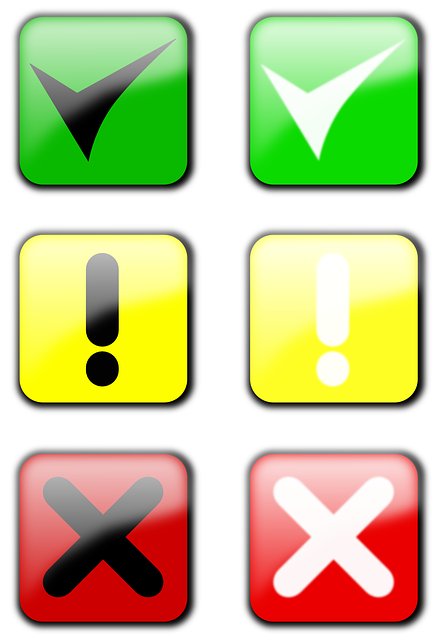 symbols, check, ckecked, approved, attention, cancel