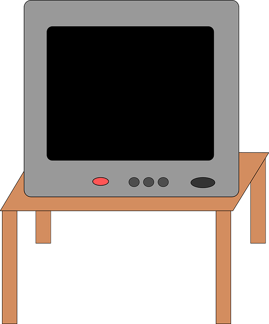 table, electronics, television, furniture, stand, tube
