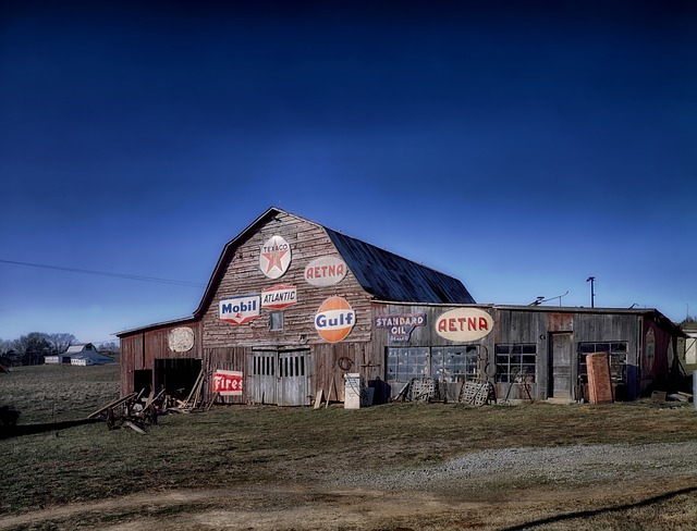 tennessee, barn, farm, rural, signs, antiques, sky