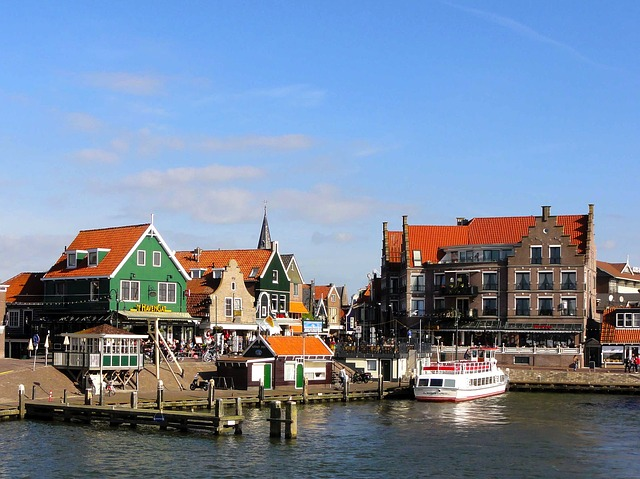 the netherlands, sky, clouds, boats, ships, harbor, bay
