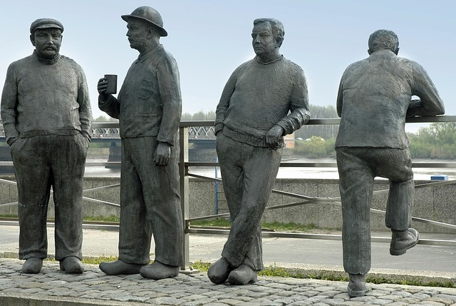 the netherlands, statues, sculptures, men, standing