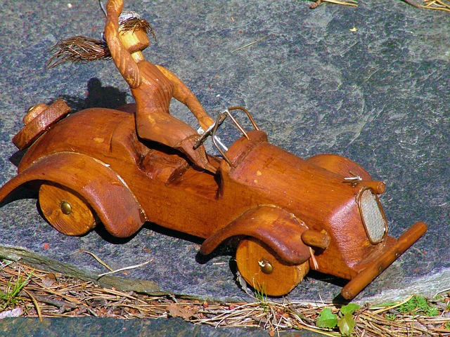 the wooden, toy car, auto, the driver of the, toy