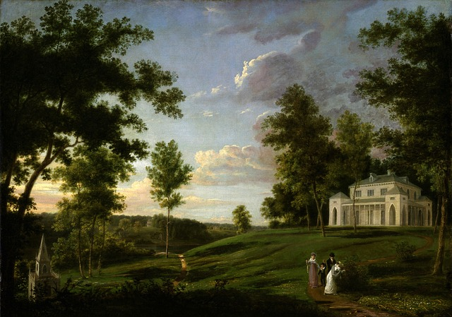 thomas birch, painting, oil on canvas, artistic, nature