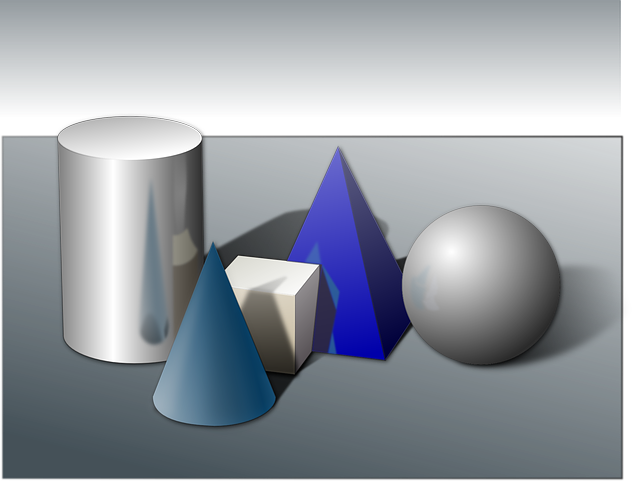 three, shapes, free, cube, shape, solid, pyramid