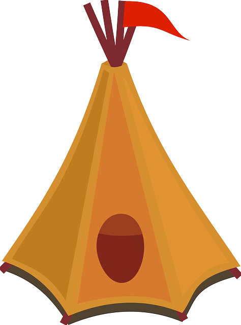 tipi, indian, tent, flag, yellow, leather