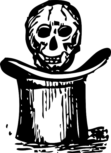 top, skull, cartoon, hat, hats, over, automatic