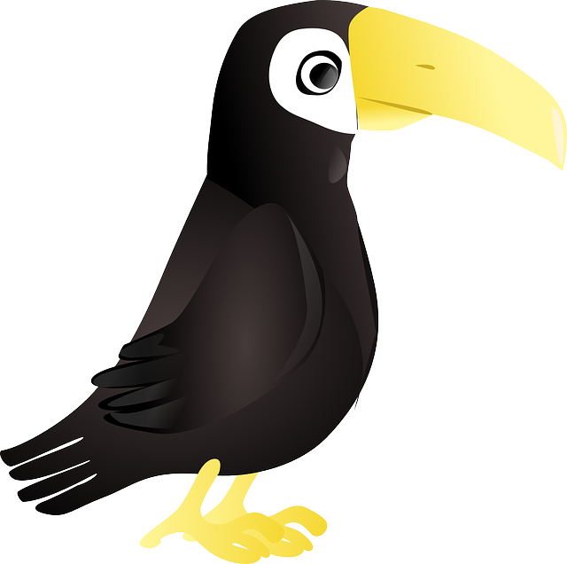 toucan, tuki, jungle, animal, bird, comic