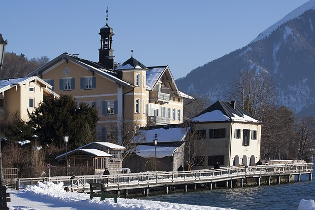 town hall, historically, alpine, building, architecture