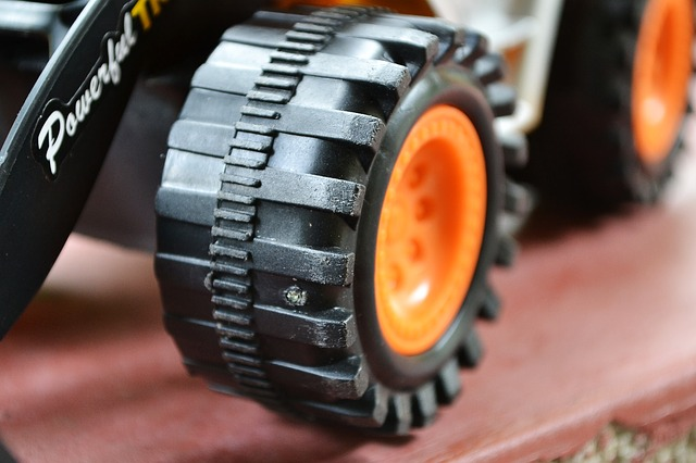 toy, plastic, dozer, backhoe, closeup, wheels