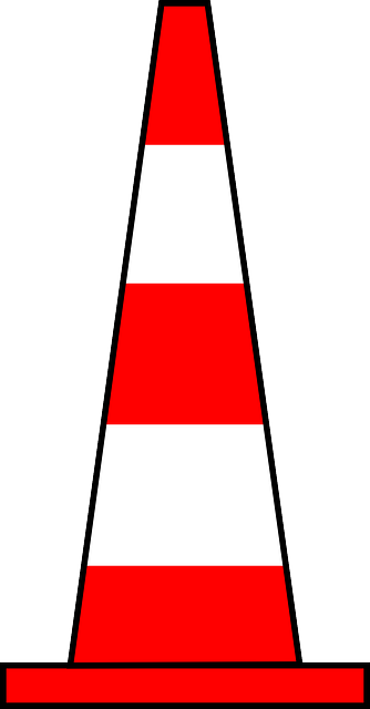traffic cone, traffic pylon, road cone, highway cone