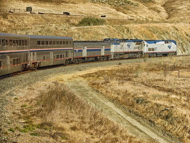 train, amtrak, passenger, landscape, scenic
