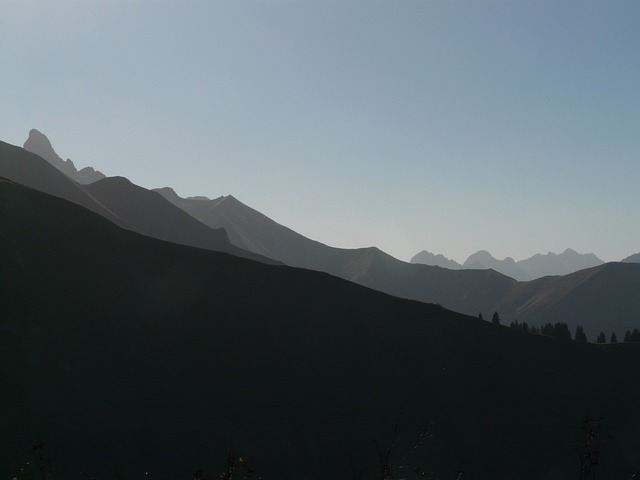trettachspitze, mountains, mountain panorama