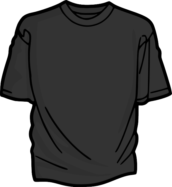 t-shirt, shirt, clothing, grey, gray, black