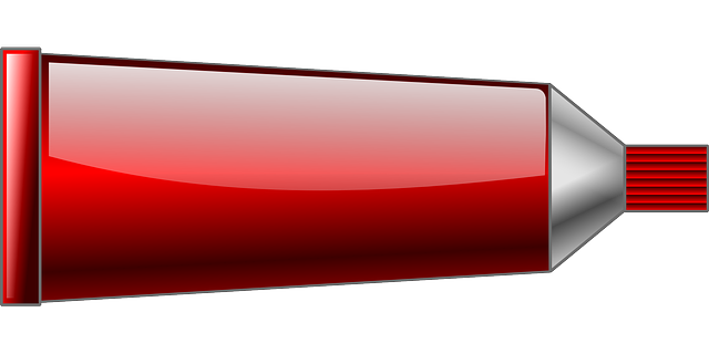 tube, dye, paint, tint, painting, red, color