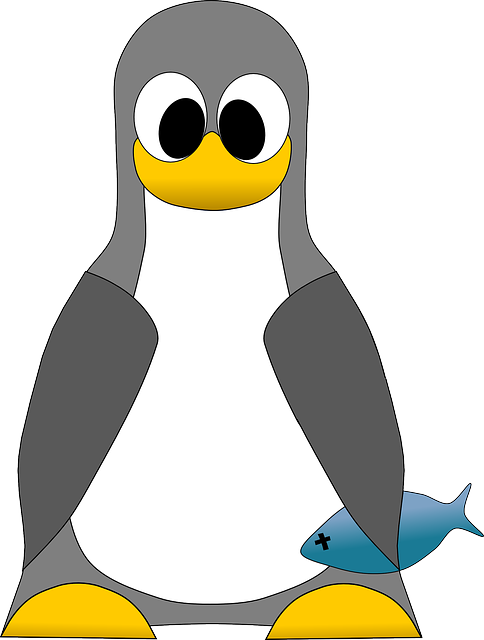 tux, penguin, computer, linux, fish, icon