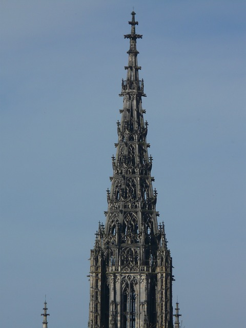 ulm cathedral, great, steeple, spire, church, tower