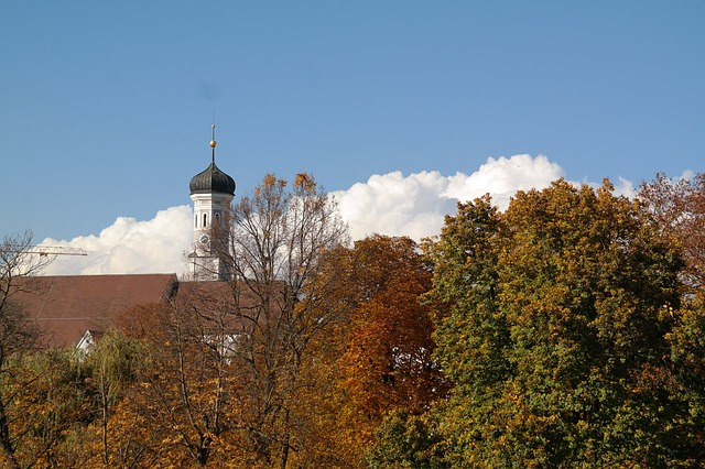 ulm, church, sky, clouds, cloud mountains, white, blue